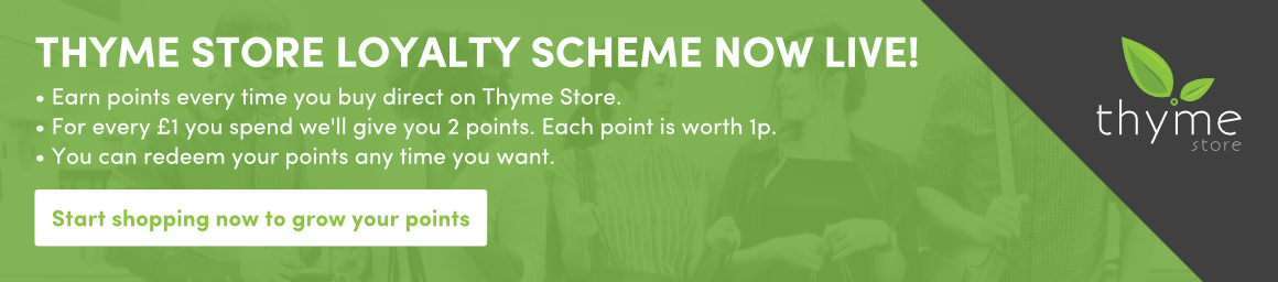 Start earning points with the Thyme Store loyalty scheme