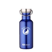 ECOtanka miniTANKA 600ml stainless steel blue water bottle with steel screw lid