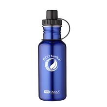 ECOtanka miniTANKA 600ml stainless steel blue water bottle with sports lid