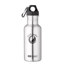 ECOtanka miniTANKA 600ml stainless steel water bottle with poly loop lid and carabiner