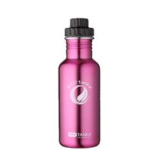 ECOtanka miniTANKA 600ml stainless steel pink water bottle with variable flow lid