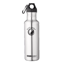 ECOtanka sportsTANKA 800ml stainless steel water bottle in Anthracite with poly loop lid and carabiner