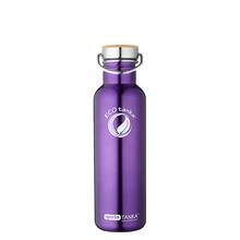 ECOtanka sportsTANKA 800ml stainless steel water bottle in Purple with steel & bamboo lid