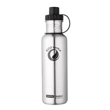 ECOtanka sportsTANKA 800ml stainless steel water bottle in Anthracite with sports lid