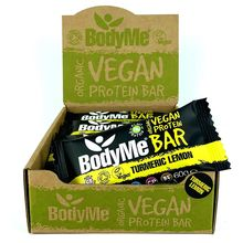 BodyMe Organic Vegan Protein Bar - Turmeric Lemon - 12 x 60g