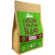 BodyMe Organic Vegan Protein Powder Blend - Coconut & Raspberry - 1kg (30 Servings)