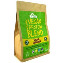 BodyMe Organic Vegan Protein Powder Blend - Maca & Cinnamon - 1kg (30 Servings)
