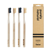 f.e.t.e | 'Purely Natural' Medium Bamboo Toothbrush Multipack
