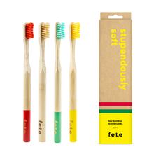 f.e.t.e | 'Stupendously Soft' Soft Bamboo Toothbrush Multipack