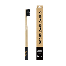 f.e.t.e | 'Cha-Cha-Charcoal' Adult's Medium Bamboo Toothbrush
