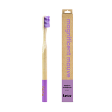 f.e.t.e | 'Magnificent Mauve' Adult's Soft Bamboo Toothbrush