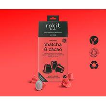 Rokit Pods Organic Matcha & Cacao Nespresso Compatible Pods 20 Pod Pack