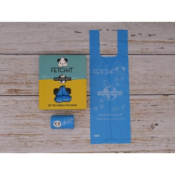 COMPOSTABLE POO BAGS WITH TIE HANDLES