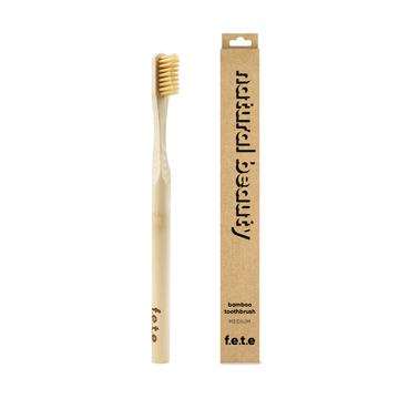 f.e.t.e | 'Natural Beauty' Adult's Medium Bamboo Toothbrush